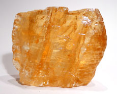 Honey Calcite, rough