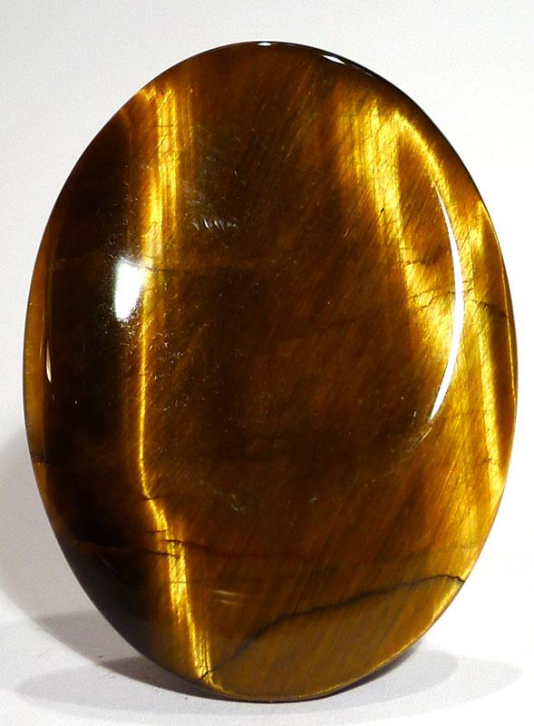 Gold Tiger's Eye Thumb Stone