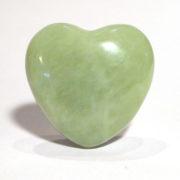 """Chinese Serpentine (""""New Jade"""") Heart"""