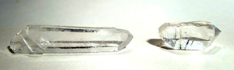 Double-Terminated Clear Quartz Laser Crystal