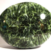 Seraphinite Pebble, polished both sides