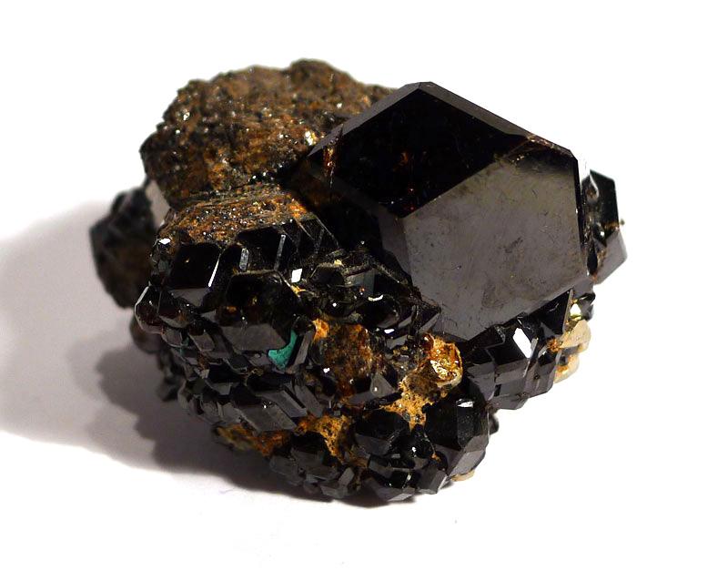 Melanite Garnet Cluster