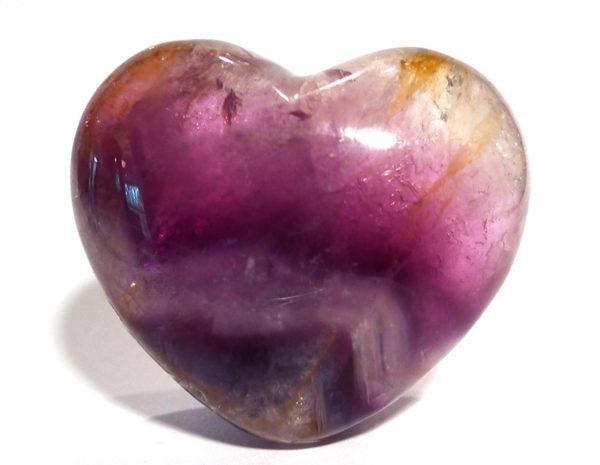 Rainbow Fluorite Heart