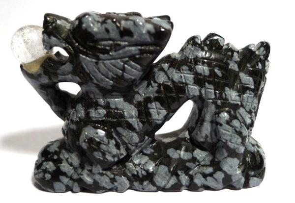 Snowflake Obsidian Dragon