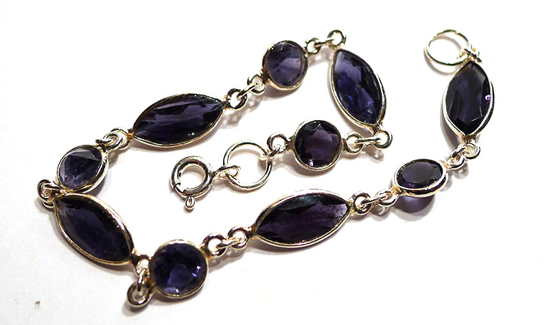 Iolite Silver Bracelet