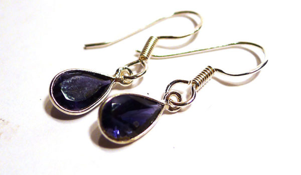 Iolite Teardrop Earrings, small