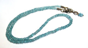 Blue Apatite Faceted Bead Necklace