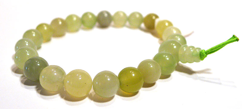 "Chinese Serpentine ""New Jade"" Karma Bracelet"