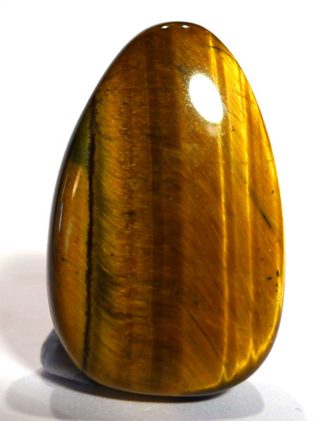 Gold Tiger's Eye Drilled Tumble Stone
