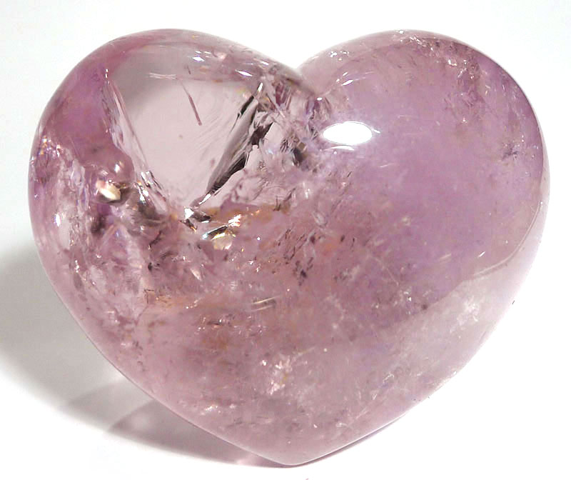 Pale Amethyst Heart