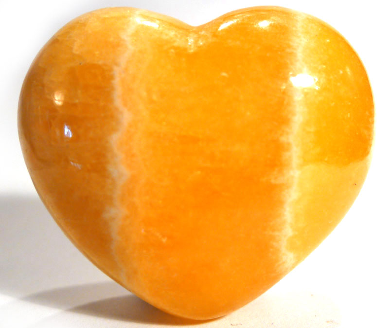 Orange Calcite Heart 1