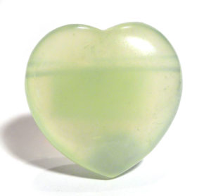 "Chinese Serpentine (""New Jade"") Drilled Heart"