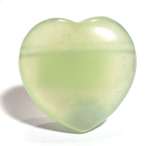 "Chinese Serpentine (""New Jade"") Drilled Heart 1"