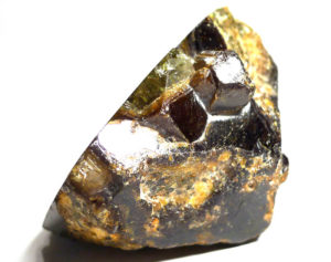 Grossular Garnet, extra large sliced