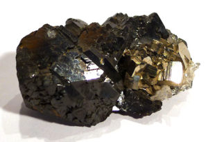 Hematite (specular) with Pyrite
