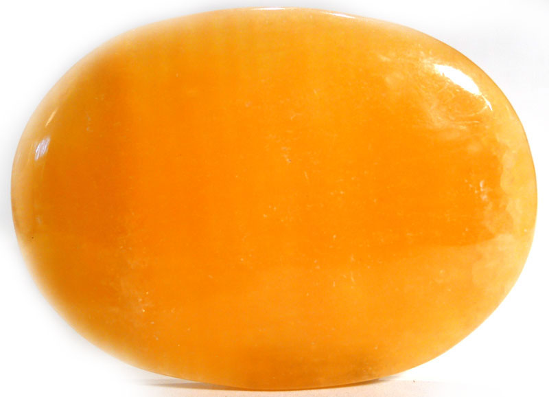 Orange Calcite Palm Stone