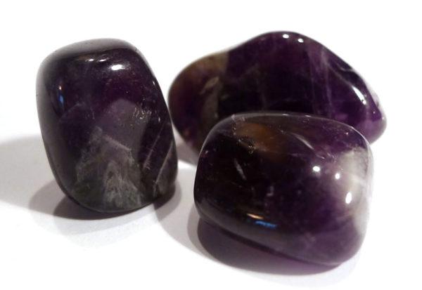 Chevron Amethyst Tumble Stone 1