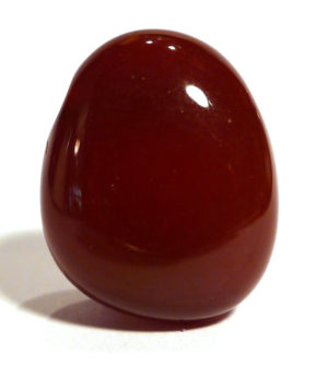 Carnelian Drilled Tumble Stone