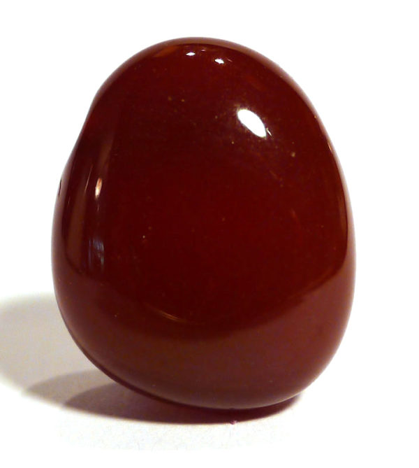 Carnelian Drilled Tumble Stone 1