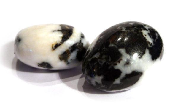 Zebra Jasper Tumble Stone, Black & White 1