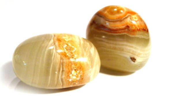 Cream Onyx Tumble Stone 1
