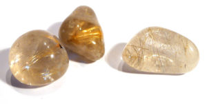 Rutilated Quartz Tumble Stone