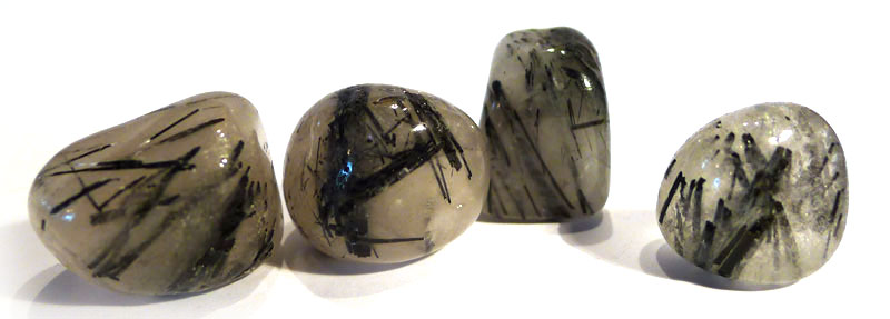 Tourmaline Quartz Tumble Stone
