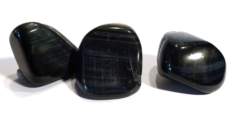 Blue Tiger's Eye Tumble Stone