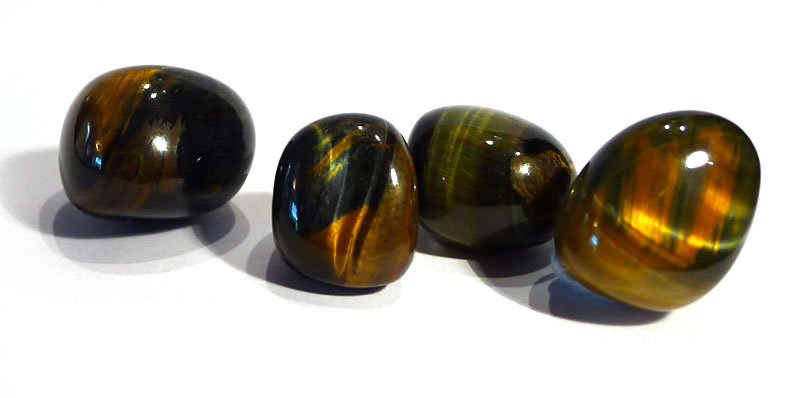 Blue and Gold Tiger's Eye Tumble Stone