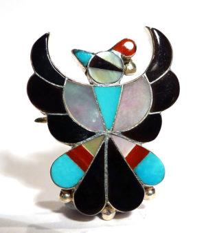Zuni Thunderbird Pendant/Brooch
