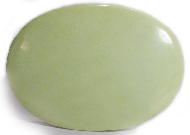 Lemon Chrysoprase Palm Stone 1