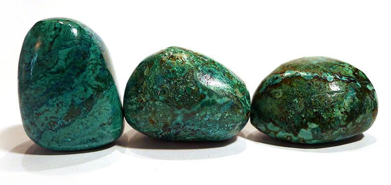 Chrysocolla and Malachite Tumble Stone