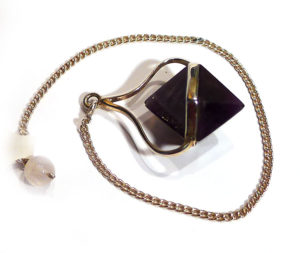 Amethyst Double-Point Faceted Pendulum