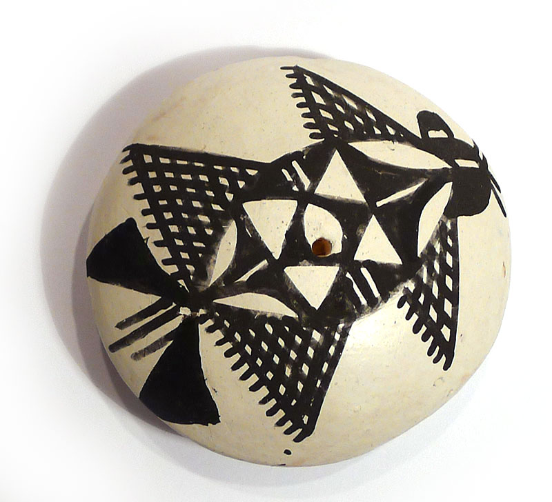Acoma Seed Pot with Black and White Design