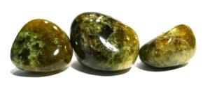 Green Grossular Garnet Tumble Stone