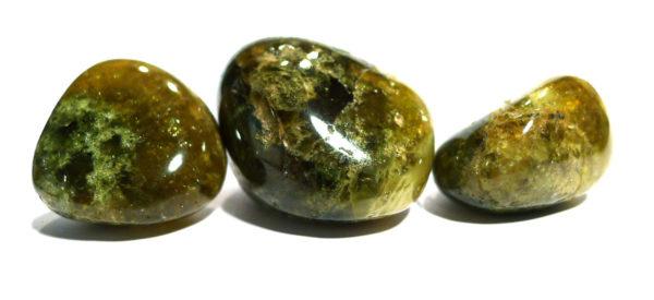 Green Grossular Garnet Tumble Stone 1