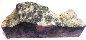 Charoite Slab with Aegirine