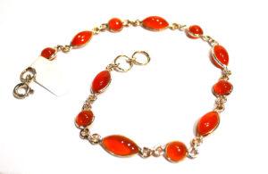 Carnelian Bracelet with Silver