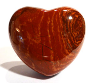 Red Brecciated Jasper Heart