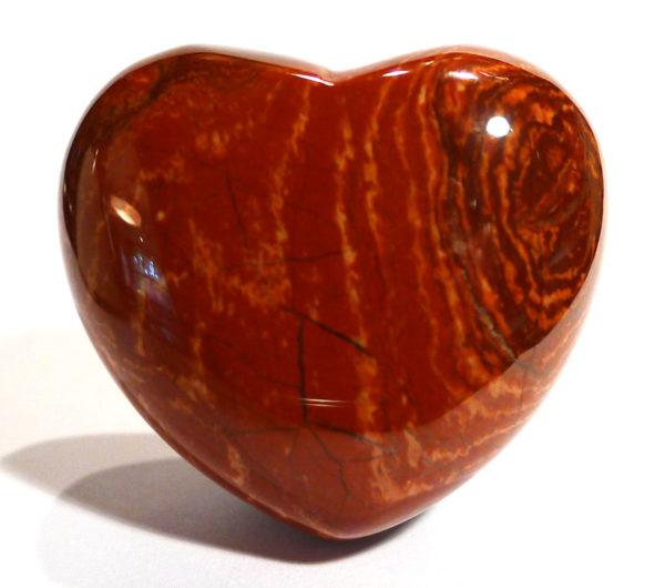 Red Brecciated Jasper Heart