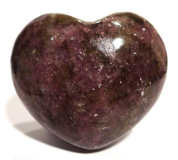 Lepidolite Heart 1