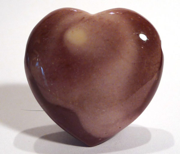 Mookaite Jasper Drilled Heart 2