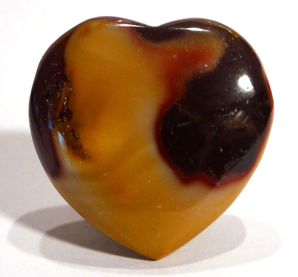Mookaite Jasper Drilled Heart 1