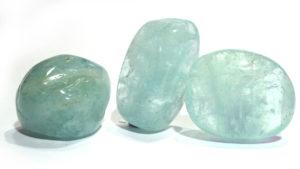 Aquamarine Tumble Stone, gem grade
