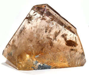 Rutilated Smoky Quartz Prism