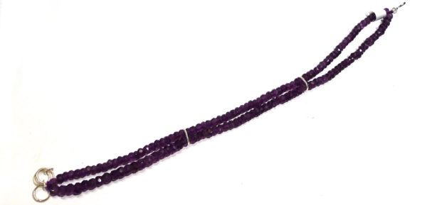 Amethyst Faceted Bead Double-Strand Bracelet 1