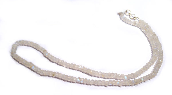 Moonstone Faceted Bead Necklace 1