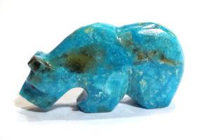 Bear Fetish in Turquoise by Kenric Laiweke