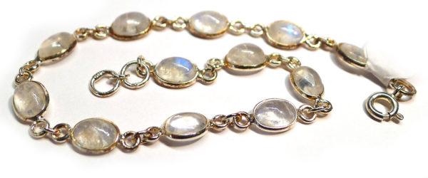 Rainbow Moonstone and Silver Bracelet 1