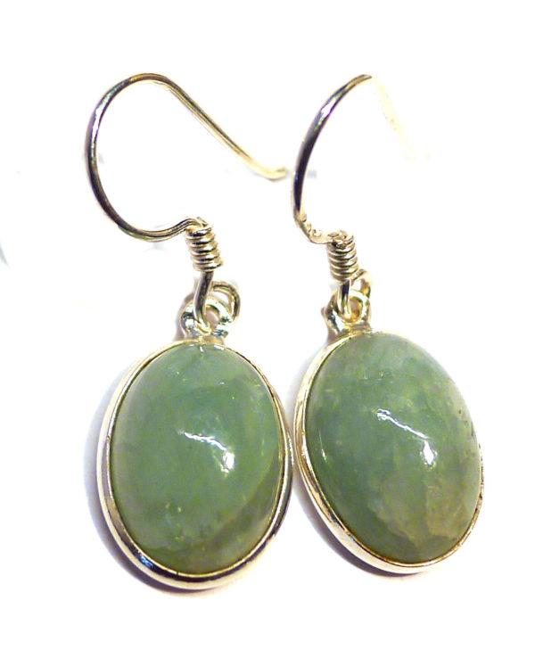 Aquamarine Oval Earrings 1